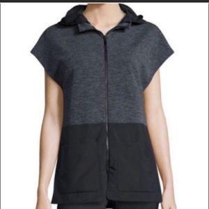 Elie Tahari 2 in 1 black & grey vest size small